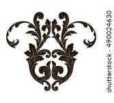 vintage baroque element...   Shutterstock .eps vector #490024630