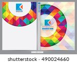 annual report cover design | Shutterstock .eps vector #490024660