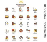 set of modern flat line icon... | Shutterstock .eps vector #490027318