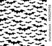 halloween bats background.... | Shutterstock .eps vector #490029958