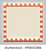 a light up retro theatre bulb... | Shutterstock .eps vector #490031086