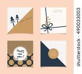 set of decorative christmas... | Shutterstock .eps vector #490033003