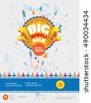 big sale diwali festival poster ... | Shutterstock .eps vector #490034434