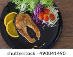 fish steak | Shutterstock . vector #490041490