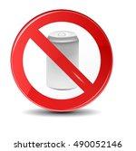 soda can no trashing vector... | Shutterstock .eps vector #490052146