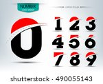 set of number logo or icon... | Shutterstock .eps vector #490055143