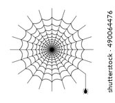 spiderweb vector isolated | Shutterstock .eps vector #490064476