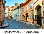 Old Street In Prague At The...
