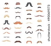 huge collection mustache retro... | Shutterstock .eps vector #490069573