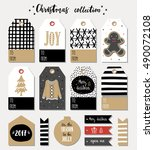 collection of christmas gift... | Shutterstock .eps vector #490072108