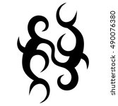 vector tribal tattoo designs.... | Shutterstock .eps vector #490076380