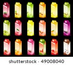 set of packing milky products... | Shutterstock .eps vector #49008040