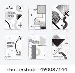black and white trend neo... | Shutterstock .eps vector #490087144