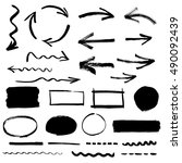 collection of arrows and design ...   Shutterstock .eps vector #490092439