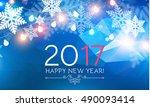 elegant new 2017 year... | Shutterstock .eps vector #490093414