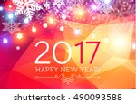 elegant new 2017 year... | Shutterstock .eps vector #490093588