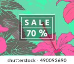 sale up to 70 per cent off. web ... | Shutterstock .eps vector #490093690