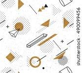 trendy geometric elements...   Shutterstock .eps vector #490099456