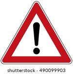 attention red white black... | Shutterstock .eps vector #490099903