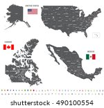 high detailed maps of canada ... | Shutterstock .eps vector #490100554