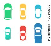 silhouettes colored cars top... | Shutterstock .eps vector #490103170