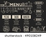 cafe menu food placemat... | Shutterstock .eps vector #490108249