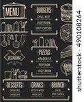 restaurant menu placemat food... | Shutterstock .eps vector #490108264