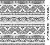 ethnic seamless monochrome... | Shutterstock .eps vector #490110874