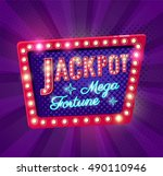 jackpot retro banner with... | Shutterstock .eps vector #490110946
