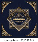 vintage wedding label | Shutterstock .eps vector #490115479