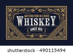 vintage logo template  business ... | Shutterstock .eps vector #490115494