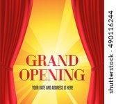 grand opening vector... | Shutterstock .eps vector #490116244