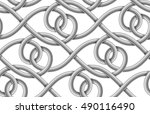 braided cable vector seamless... | Shutterstock .eps vector #490116490