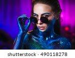 portrait of an beautiful woman... | Shutterstock . vector #490118278