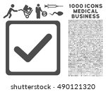 gray checkbox icon with 1000...