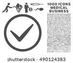 gray ok icon with 1000 medical...