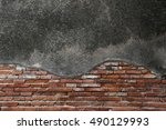 ancient wall  background like a ... | Shutterstock . vector #490129993