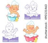 Cute Little Baby In The Bath....