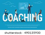 coaching concept illustration... | Shutterstock .eps vector #490135930