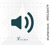 volume high icon. vector design. | Shutterstock .eps vector #490136479