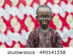 black african child smiling... | Shutterstock . vector #490141558