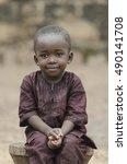 handsome young african boy... | Shutterstock . vector #490141708