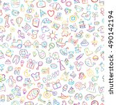 baby seamless pattern for your... | Shutterstock .eps vector #490142194