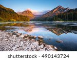 great view of the azure pond... | Shutterstock . vector #490143724