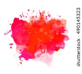 abstract watercolor red... | Shutterstock .eps vector #490145323