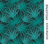 palm leaf  seamless pattern... | Shutterstock . vector #490145968