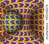 optical motion illusion... | Shutterstock .eps vector #490146076