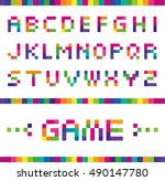vector stylized font of the... | Shutterstock .eps vector #490147780