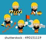 vector illustration   cartoon... | Shutterstock .eps vector #490151119