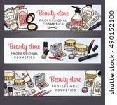 vector sketchy cosmetics...   Shutterstock .eps vector #490152100